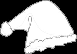 Santa Hat White Clip Art at Clker.com.