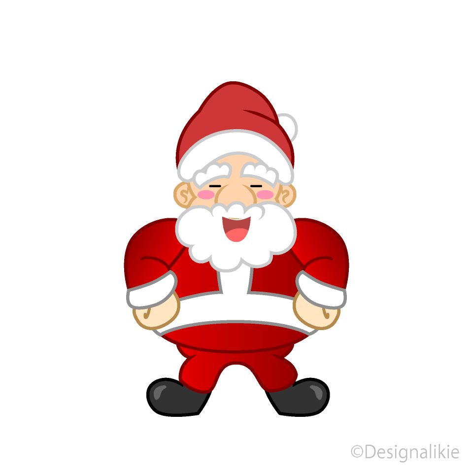 Free Laughing Santa Clipart Image|Illustoon.