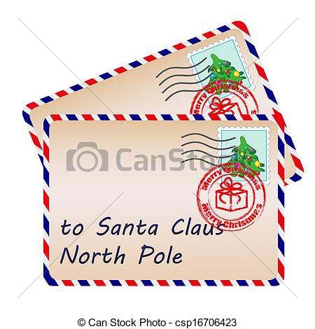 Cute Santa Letter Clipart.
