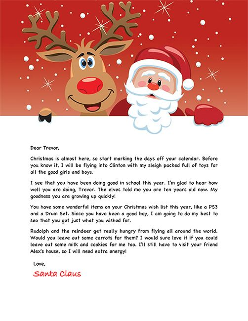 17 Best ideas about Free Santa Letters on Pinterest.