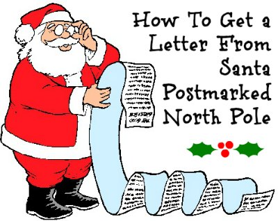How To Get A Letter From Santa Postmarked North Pole (It's Free!).