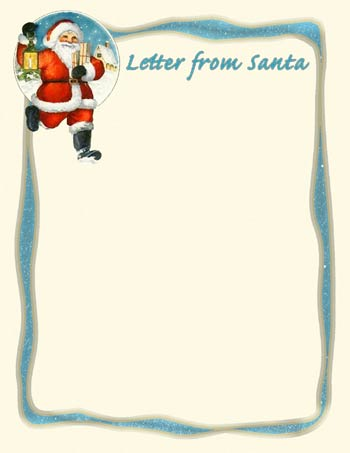 Letter To Santa Clipart.