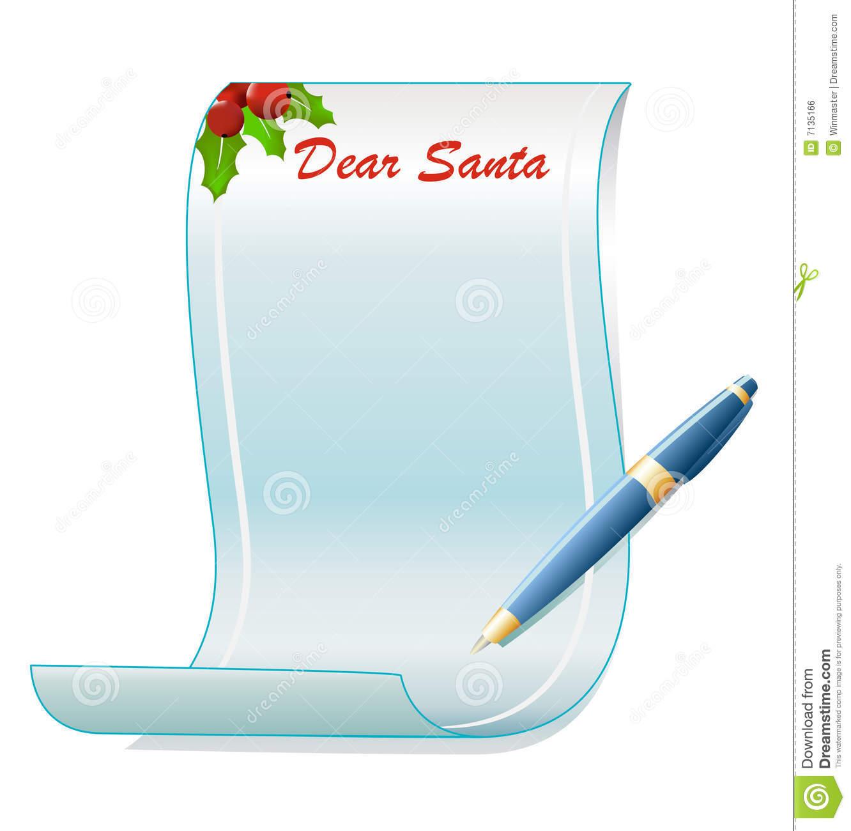 Santa Letter Clipart Free.