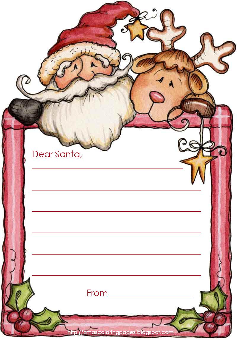 Letter to Santa free templates.