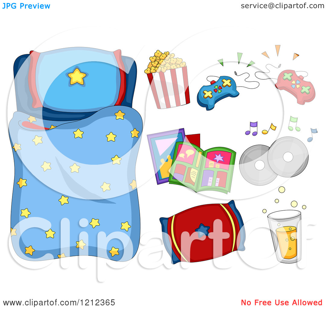 Free santa sleeping bag clipart.