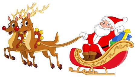 Santa Sleigh Clipart & Free Santa Sleigh Clipart.png.