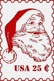 Santa stamp so cute! (and 33 more free Christmas.