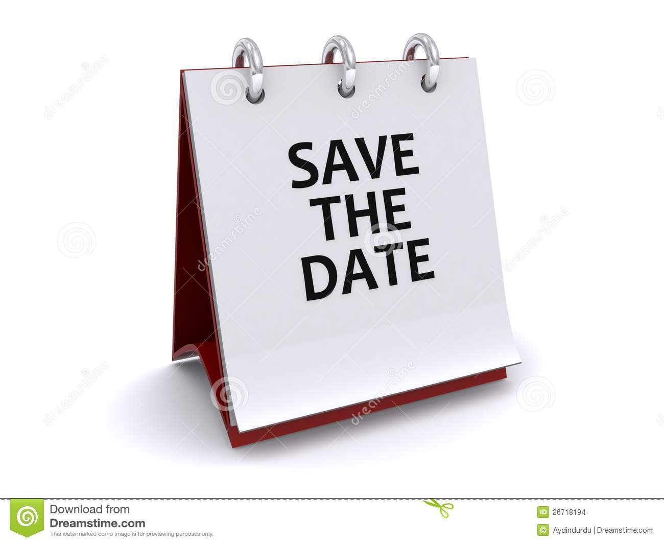 free save the date calendar clipart #14
