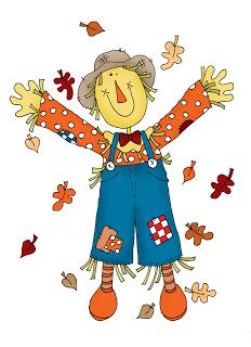 Free Dearie Dolls Digi Stamps: Happy Scarecrow.