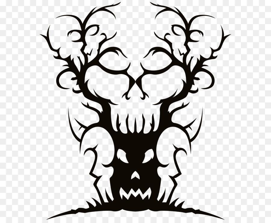 Download Free png Tree Spooky Halloween Clip art Scary Spooky Tree.