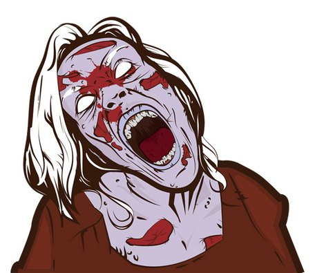 Free Free Scary Zombie Girl Clipart and Vector Graphics.