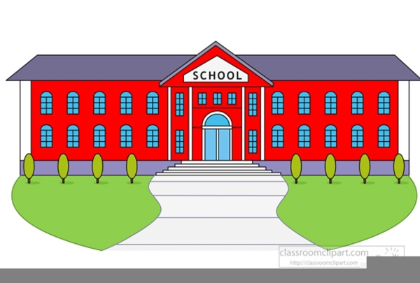 Clipart Of School Building Free Images At Clker Com Vector Clip.