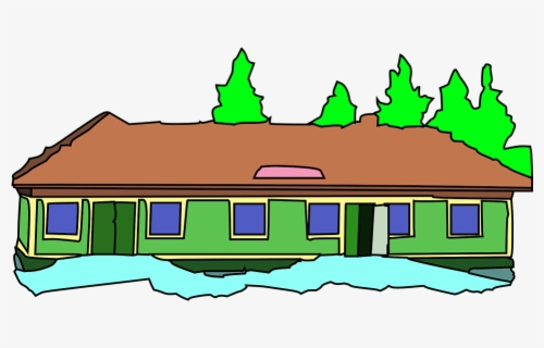 Free School Building Clip Art with No Background.