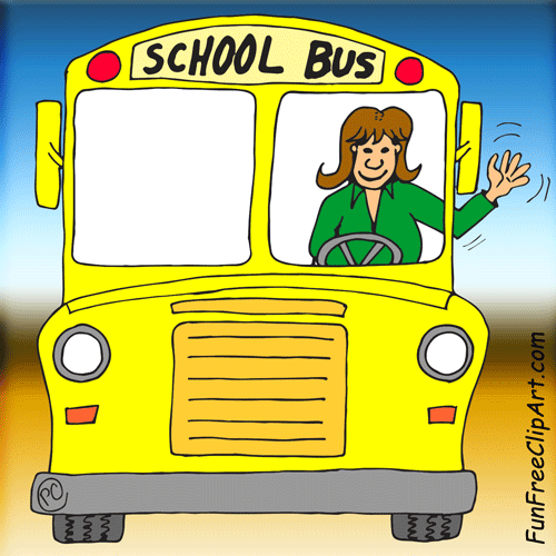 Free School Bus Driver Clipart Image.