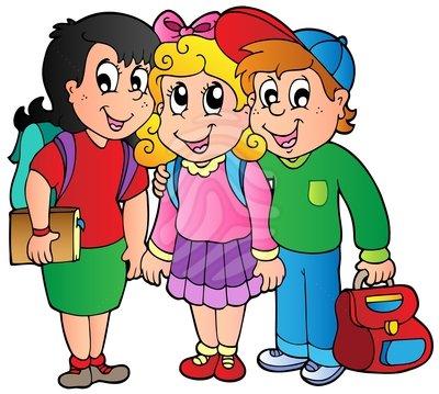 Clipart School Children.