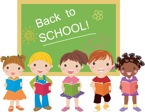 Free school children vector graphic free vector download.