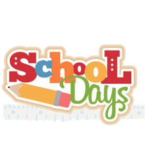 School Days Title SVG cutting file for scrapbooking free svg cuts.