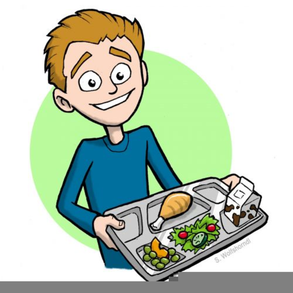 Free Clipart School Lunch Tray.