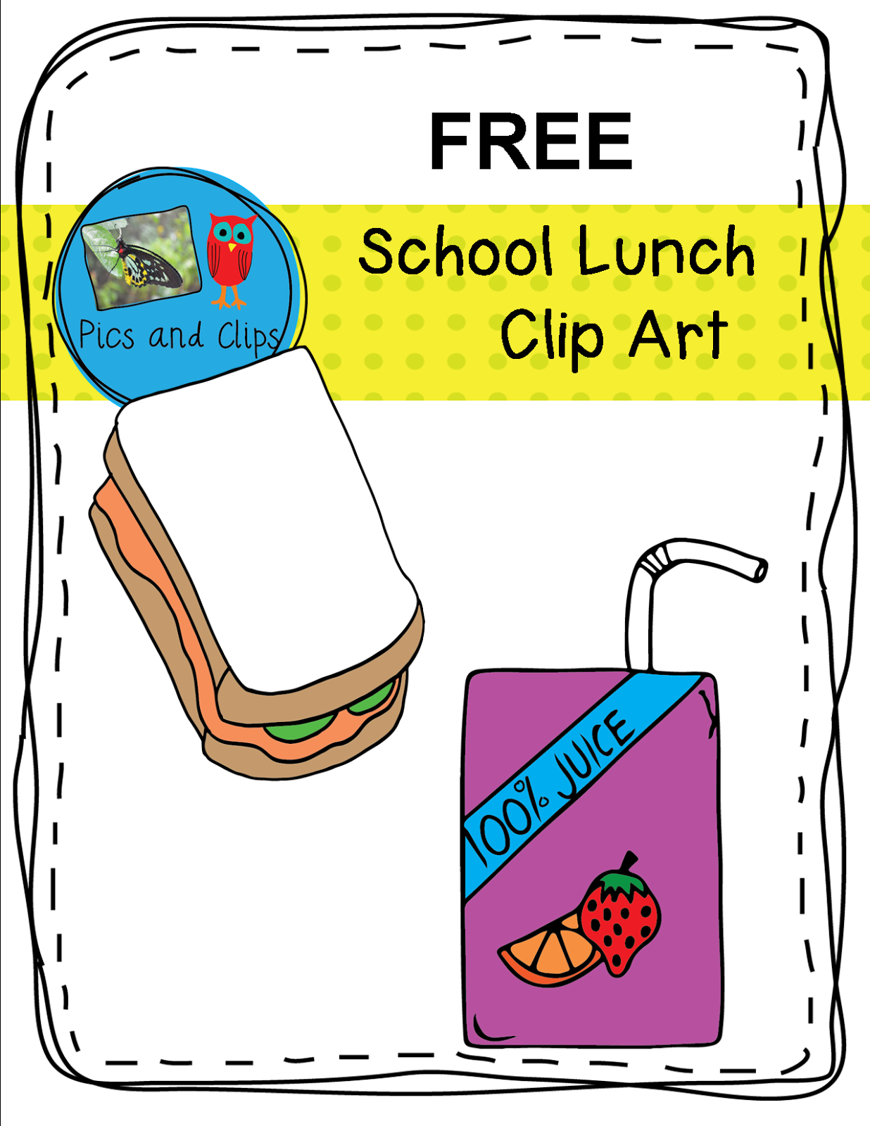 Lunch School Cafeteria Clipart.