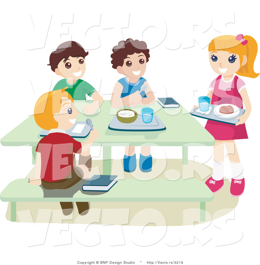 Kids In Cafeteria Clipart.