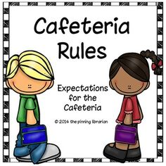 School Cafeteria Supervision Clipart.