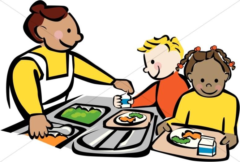 School Cafeteria Worker Clipart.