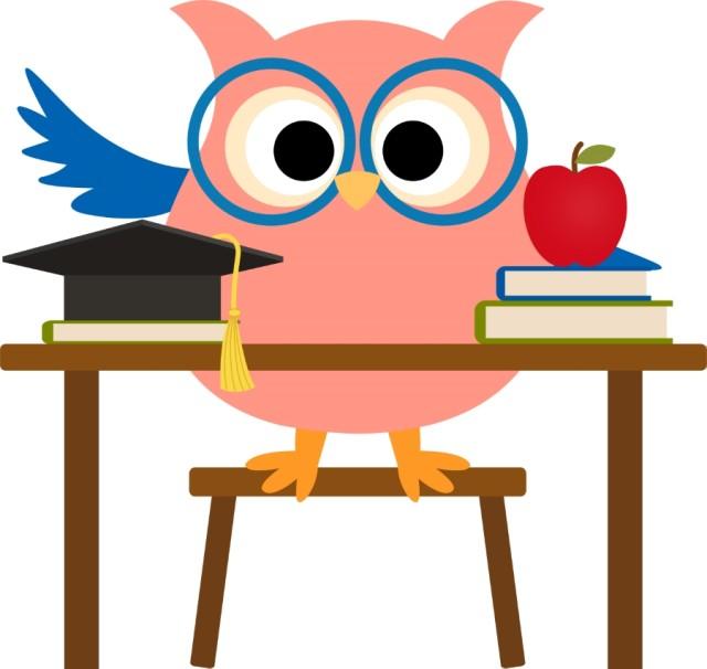 Owl School Clipart.
