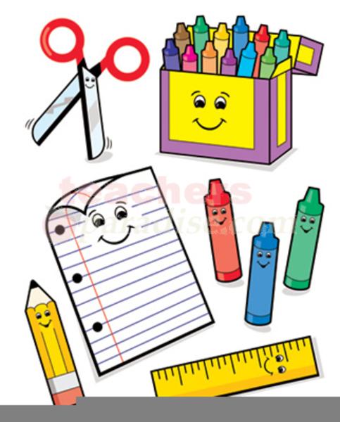 School Supplies Clipart Free.