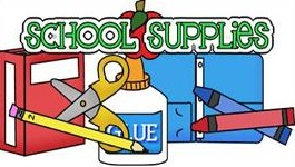 Free School Supplies clipart.