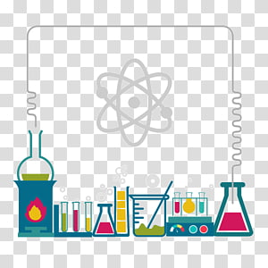 Science Border transparent background PNG cliparts free.