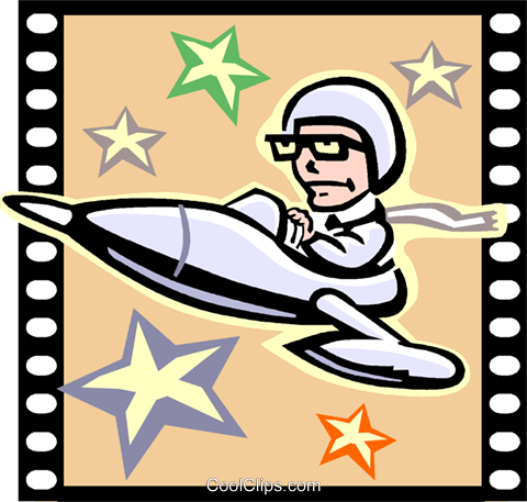 Science Fiction Movie Royalty Free Vector Clip Art.