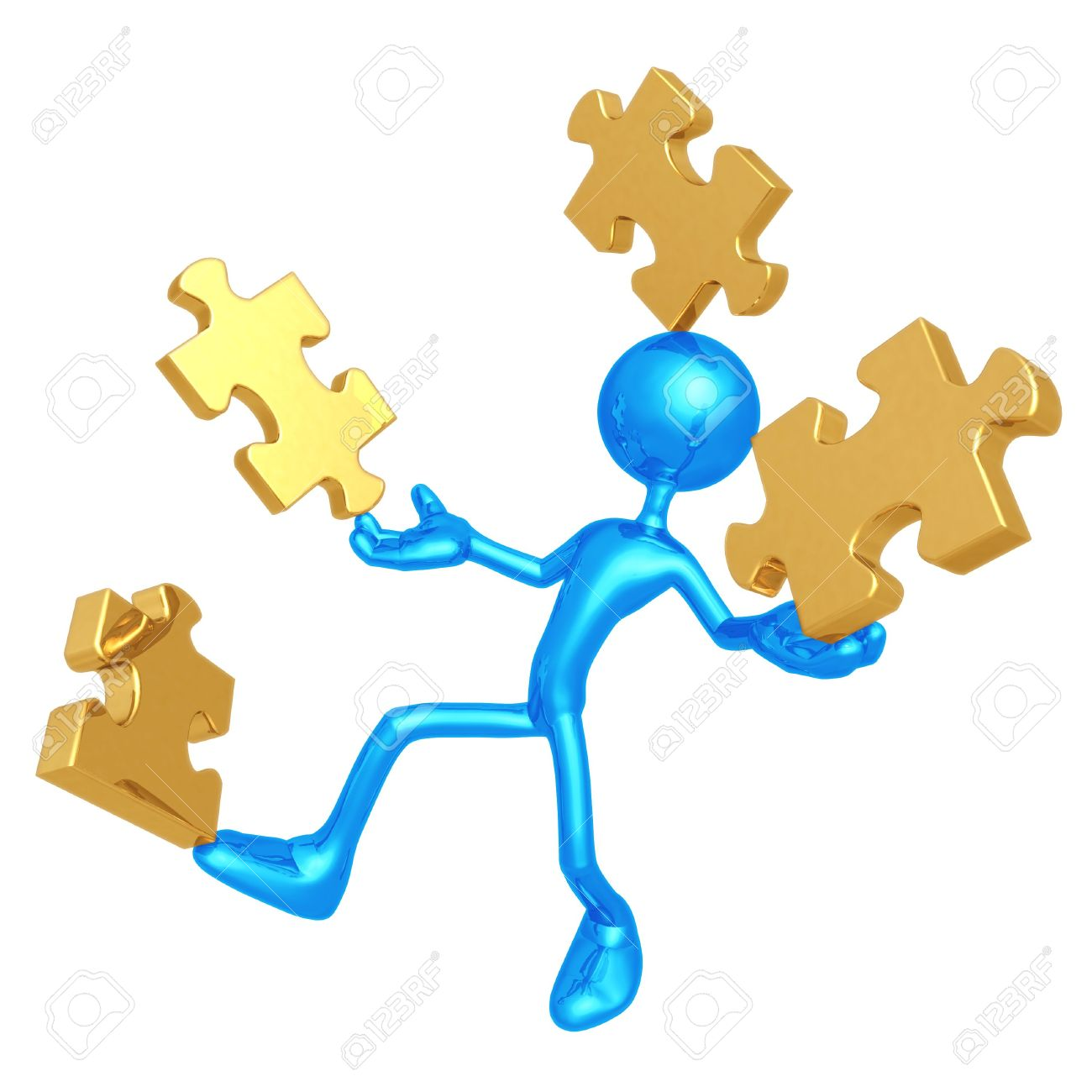 Balancing Puzzle Pieces Stock Photo, Picture And Royalty Free.