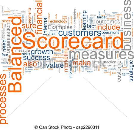 Clipart of Balanced scorecard.