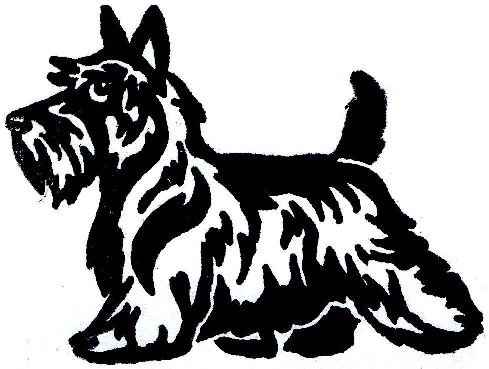 Scottish Terrier Cartoon Clipart.