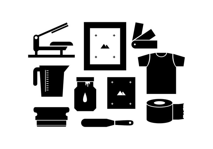 Free Silhouette Screen Printing Icon Vector.