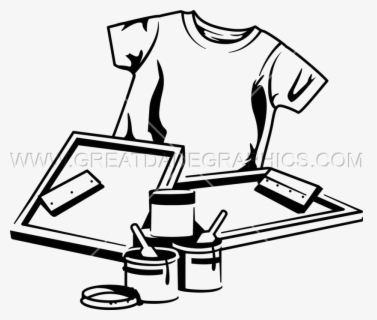 Free Screen Printing Clip Art with No Background.