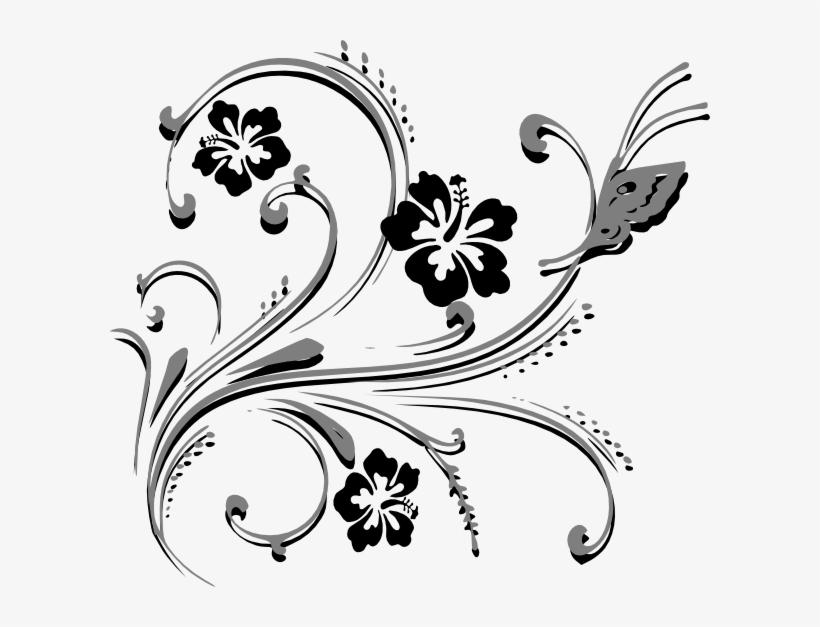 Butterfly Scroll Clip Art.