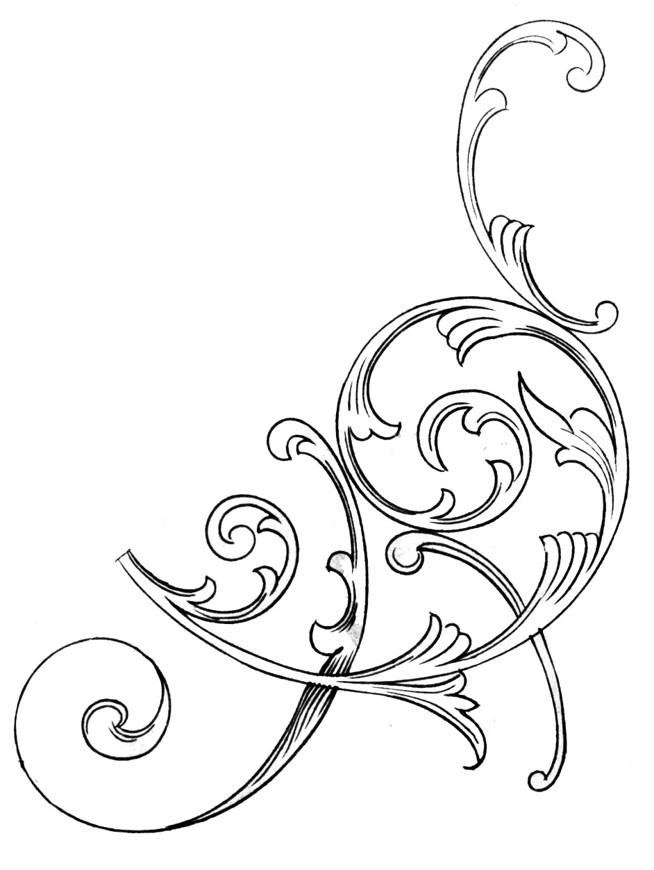 free scroll work clipart - Clipground