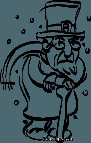 scrooge Royalty Free Vector Clip Art illustration.