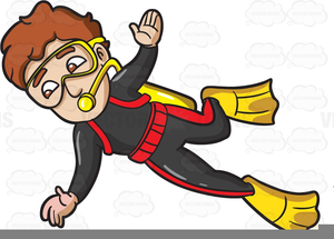 Animated Scuba Diving Clipart.