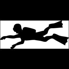 Scuba Diver Silhouette FREE SVG.