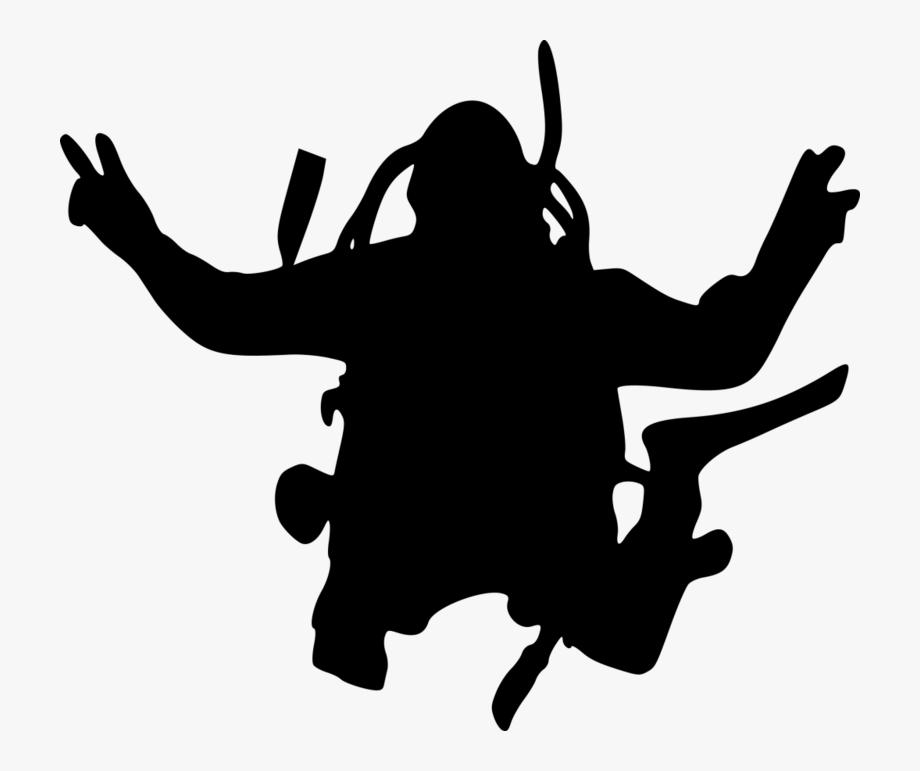 Scuba Diver Silhouette.