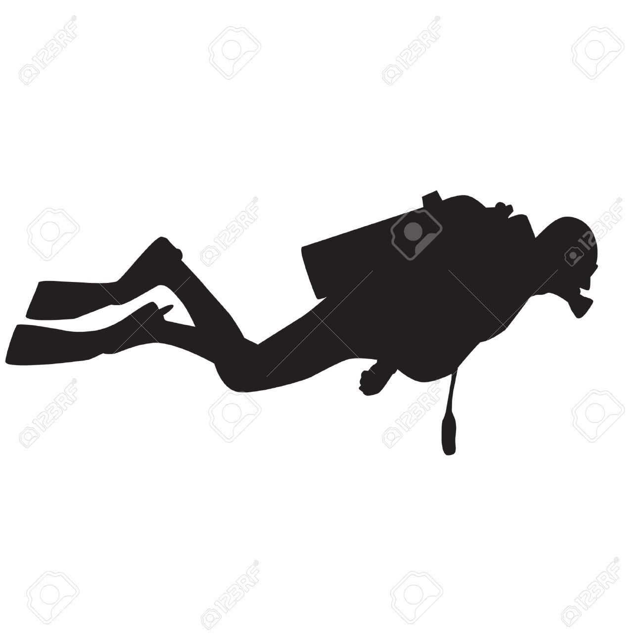 Image Gallery scuba silhouette.