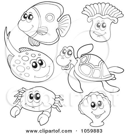 Sea Animals Clipart Color