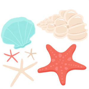 Seashell Set SVG scrapbook cut file cute clipart files for.