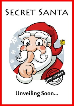 Free Printable Secret Santa Clipart.