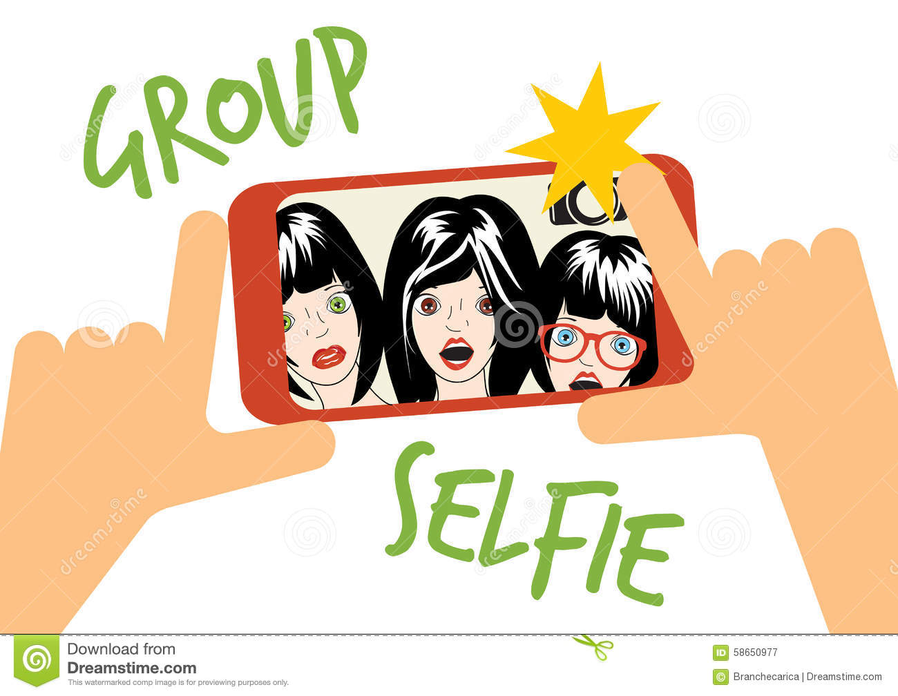 Group Selfie Clipart.