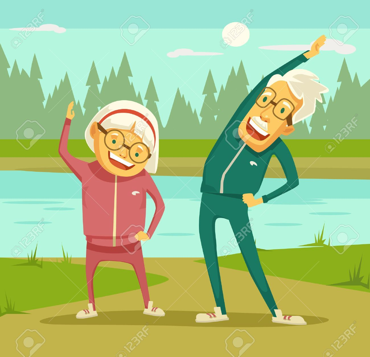 Image result for free clipart senior exercise.