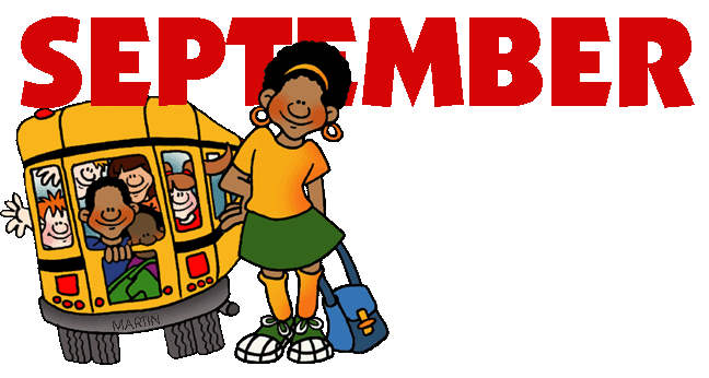 September Clip Art School Bus.