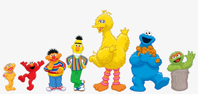 Big Bird Elmo Sesame Street Characters Clip Art.